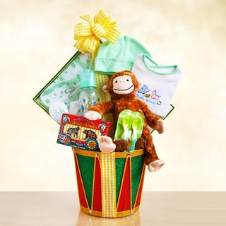 California Delicious Monkey Drum Baby Gift Basket