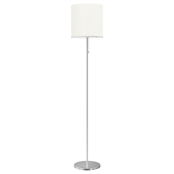 Eglo Sendo 1 X 100 Watt Floor Lamp With Aluminum Finish And White Shade