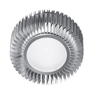 Eglo Chiron 1 x 40W Wall/Ceiling Light with Aluminum Finish and Frosted Glass