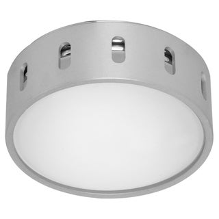 Eglo Chiron 1 x 40W Wall/Ceiling Light with Aluminum and Chrome Finish and Frosted Glass