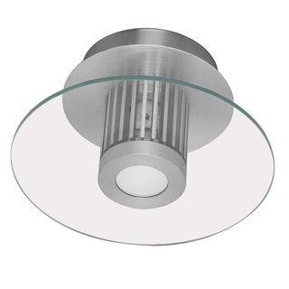 Eglo Chiron 1 x 40W Wall/Ceiling Light with Aluminum Finish and Clear Glass