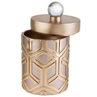 Rose Gold Bamboo Weave Jewelry Box