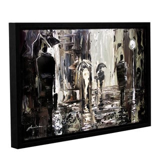 ArtWall Milen Tod 'Rain' Gallery-wrapped Floater-framed Canvas
