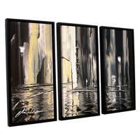 ArtWall Milen Tod 'Mono' 3 Piece Floater Framed Canvas Set