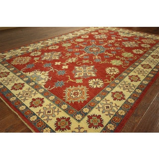 Adina Collection Super Kazak Hand-knotted Wool Vegetable Dyed Area Rug (9' x 13')