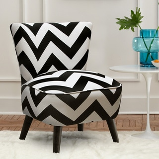 Skyline Furniture Upholstered Chair in Zippy Black-White