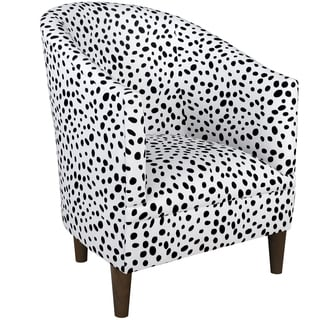 Skyline Furniture Tub Chair in Togo Black-White