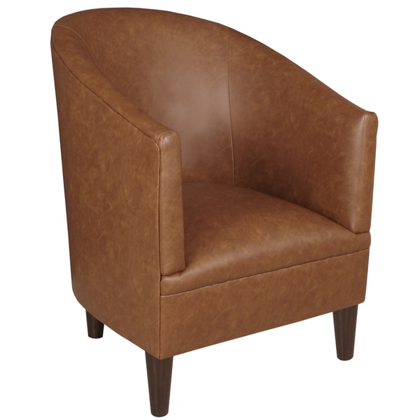 Shop Skyline Furniture Tub Chair in Sonoran Saddle Brown - On Sale ...