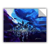 ArtAppealz Milen Tod 'Distorted Reflection' Removable Wall Art