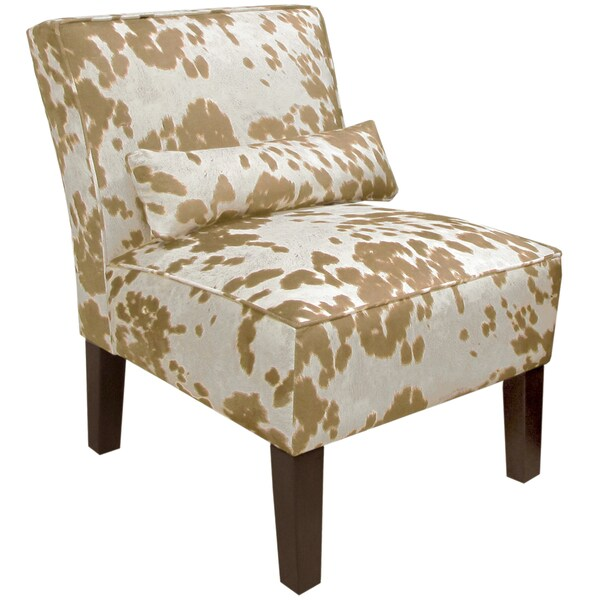 Skyline Furniture Armless Chair In Udder Madness Palomino