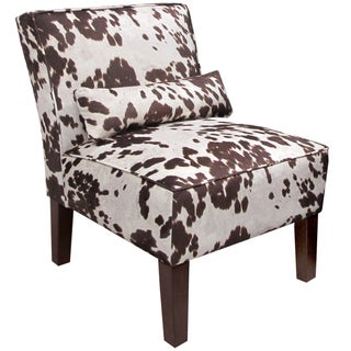 Skyline Furniture Armless Chair in Udder Madness Milk