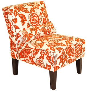 Skyline Furniture Armless Chair in Canary Tangerine