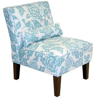Skyline Furniture Armless Chair in Canary Robin