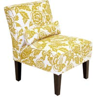 Skyline Furniture Armless Chair in Canary Maize