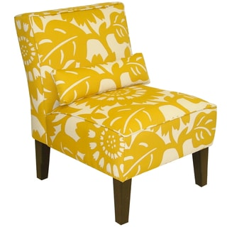 Skyline Furniture Armless Chair in Gerber Sungold