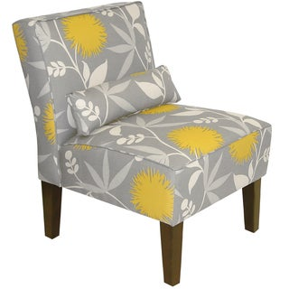 Skyline Furniture Armless Chair in Polly Dove