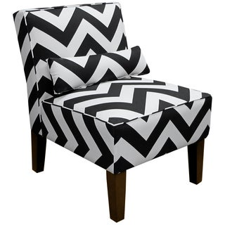 Skyline Furniture Armless Chair in Zippy Black-White