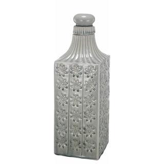 Kathy Ireland Textural Ceramic Square Lidded Jar