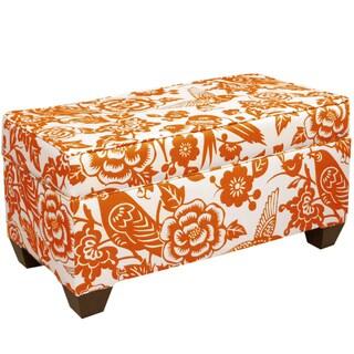 Skyline Furniture Storage Bench in Canary Tangerine