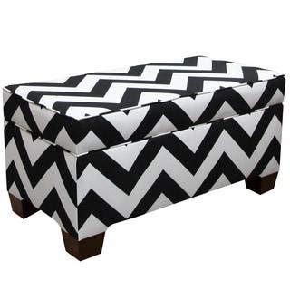 Skyline Furniture Storage Bench In Zippy Black White