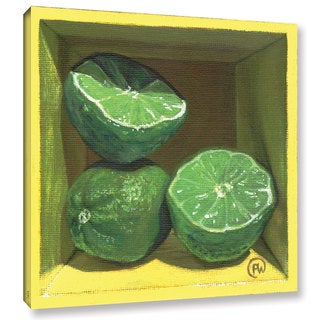 ArtWall Paige Wallis 'Lime' Gallery-wrapped Canvas