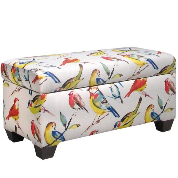 Skyline Furniture Storage Bench In Birdwatcher Summer