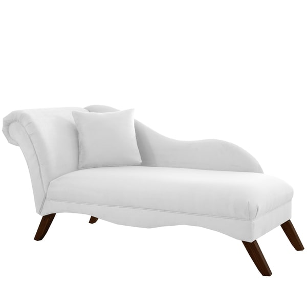 Skyline Furniture Chaise Lounge in Velvet White Free Shipping