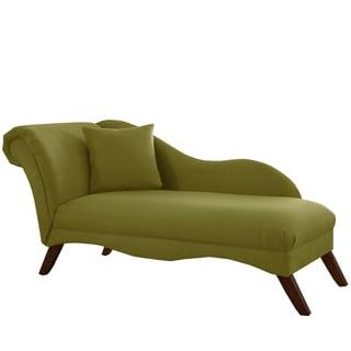 Skyline Furniture Chaise Lounge in Velvet Applegreen