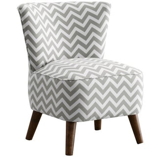 Made to Order Skyline Furniture Upholstered Chair in Zig Zag Ash-White