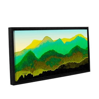 ArtWall Linda Parker 'Pyrenees In Spring' Gallery-wrapped Floater-framed Canvas