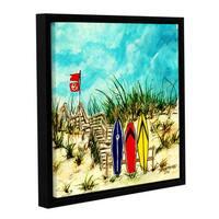 ArtWall Derek Mccrea 'Surfing' Gallery-wrapped Floater-framed Canvas
