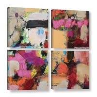 ArtWall Allan Friedlander 'Follies' 4 Piece Gallery-wrapped Canvas Square Set