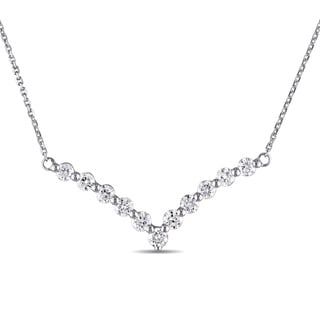 Miadora Signature Collection 14k White Gold 1ct TDW Diamond Necklace (G-H, I1-I2)
