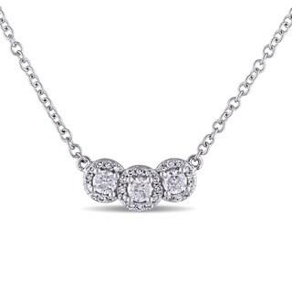 Miadora 14k White Gold 1/2ct TDW Diamond Necklace