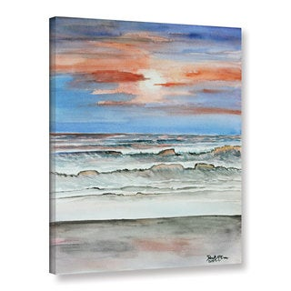 ArtWall Derek Mccrea 'Sunset Beach' Gallery-wrapped Canvas