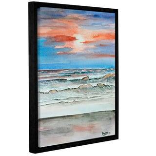 ArtWall Derek Mccrea 'Sunset Beach' Gallery-wrapped Floater-framed Canvas