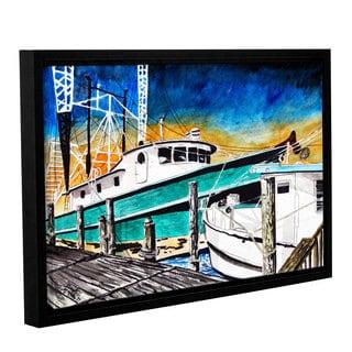 ArtWall Derek Mccrea 'Shrimp Boats' Gallery-wrapped Floater-framed Canvas