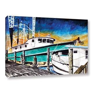 ArtWall Derek Mccrea 'Shrimp Boats' Gallery-wrapped Canvas