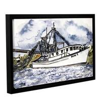 ArtWall Derek Mccrea 'Shrimp Boat' Floater-framed Canvas