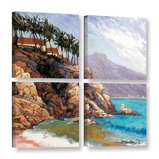 ArtWall Rick Kersten 'Cabo San Lucas' 4 Piece Gallery-wrapped Canvas Square Set