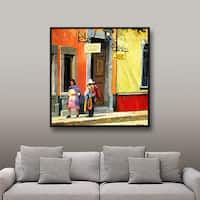 ArtWall Rick Kersten 'Streets Of Mexico' Gallery-wrapped Floater-framed Canvas - Multi