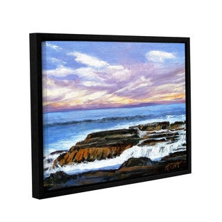 ArtWall Gene Foust 'Rolling Water' Gallery-wrapped Floater-framed Canvas