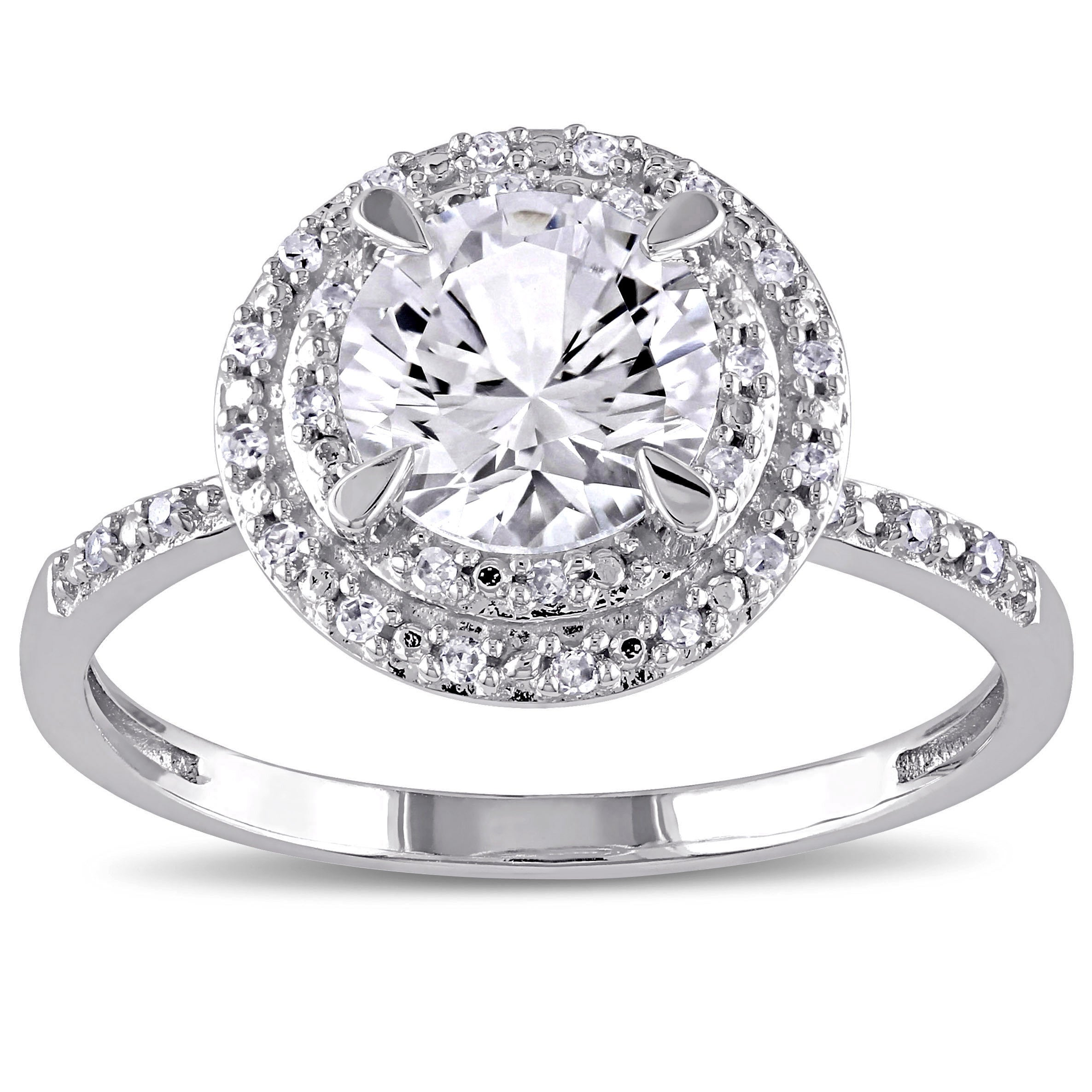 cushion halo white bridal engagement created dp diamond gold amazon ring ttw round set sapphire com