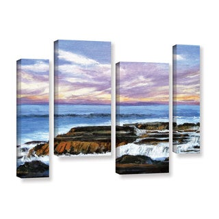 ArtWall Gene Foust 'Rolling Water' 4 Piece Gallery-wrapped Canvas Staggered Set