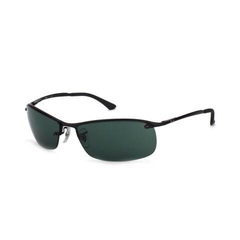Ray-Ban RB3183 63mm Green Classic Lenses Black Frame Sunglasses