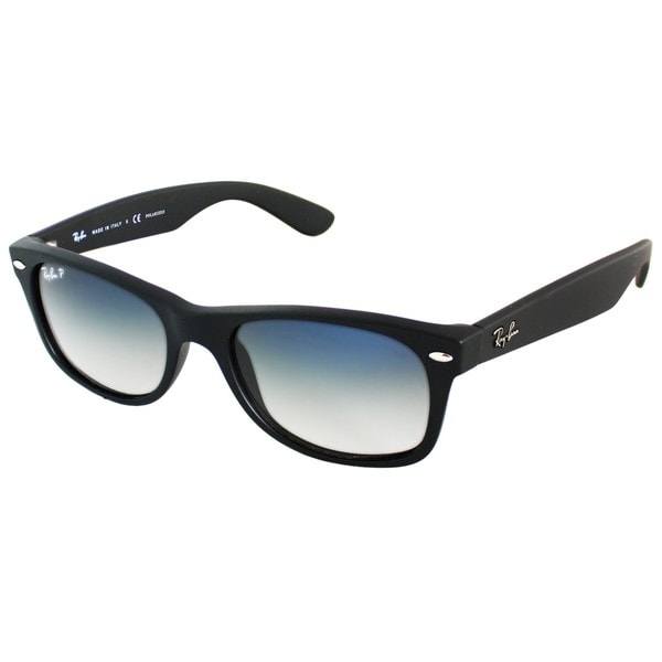 a8d0e497ba Ray-Ban RB2132 52mm Polarized Blue Grey Gradient Lenses Black Frame  Sunglasses