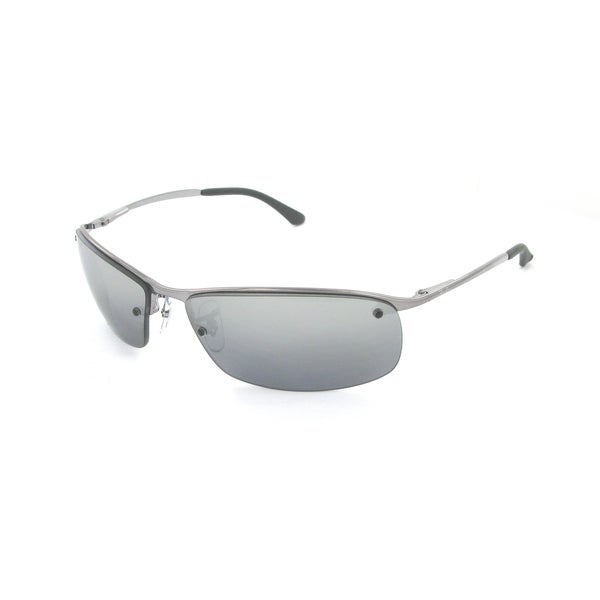 Ray Ban Silver Frame Glasses : Ray-Ban RB3183 63mm Polarized Silver Mirror Lenses ...