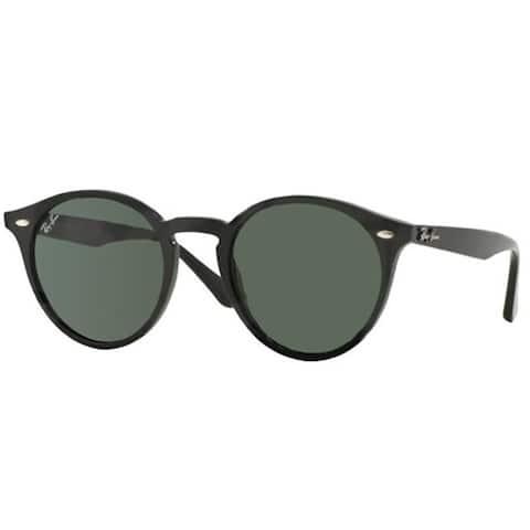 Ray-Ban RB2180 49mm Green Classic Lenses Black Frame Sunglasses