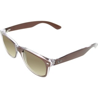 Ray-Ban RB2132 New Wayfarer Unisex Brown/Transparent Frame Brown Lens Sunglasses