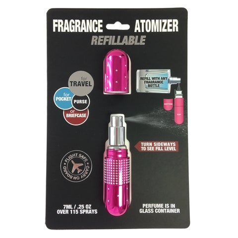 Refillable Fragrance Deluxe Crystal Sexy Pink 0.23-ounce Atomizer